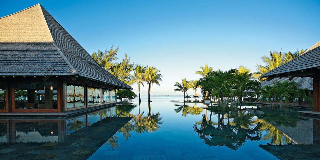 Poolen på Le Telfair, Mauritius